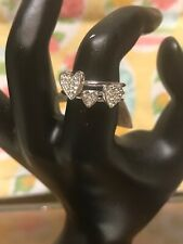 Lia Sophia Size 8 Lots of Love Set of 3  Rings RV $68 Silver