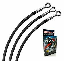 FIT SUZUKI RGV250 M-N 91-92 CLASSIC BLACK STAINLESS STD FRONT BRAKE LINES