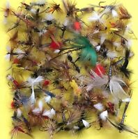 Assortment Fly Fishing Trout Flies Dry,Wet,Nymphs,Streamer Qty 12 30 60 120