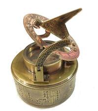 Antique Maritime Brass Sundial Compass Elliot Bros Pocket Direction Compass