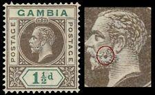 "GAMBIA 72v (SG88v) - King George V ""Damaged Cheek"" Flaw (pf41096)"