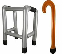 Inflatable Zimmer Frame And Walking Stick Blow Up Toy Gag Joke Novelty Accessory