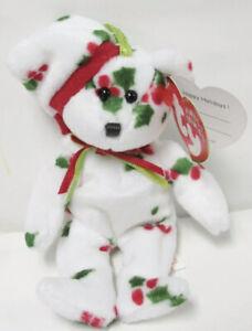 🌈1998 Holiday Bear Ty Jingle Beanie Babies