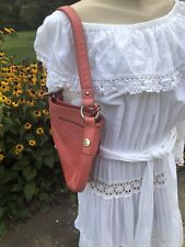 Gorgeous Dusty Rose Pink FOSSIL Hobo Style Hand Bag