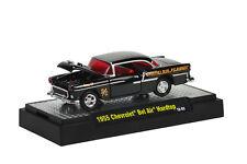 `55 Chevrolet Bel Air  Race Car Black 1955 **M2 Machines BOX 1:64 RAR+OVP