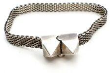 "Mignon Faget Pylon Mesh Bracelet Sterling Silver 6.75"" Long 925 Fine Jewelry"