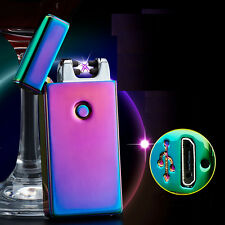 Arc USB G-sensor Electronic Rechargeable Battery Windproof Cigarette Lighter US