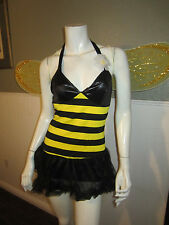 4 PCS SET BUMBLE BEE COSTUME SIZE SMALL COSPLAY RAVE HALLOWEEN