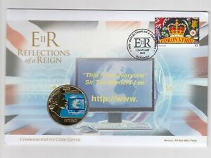 Bahamas coin cover - Reflections of a reign - + Jersey 50p (2)