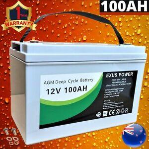 12V 100AH AGM Deep Cycle Battery SLA Portable Sealed Rechargeable Marine Solar