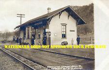 Pennsylvania RR Wapwallopen PA station 8½x11 PC repro