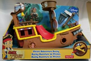 Fisher Price Jake and the Neverland Pirates ~ Pirate Adventure Bucky Ship~NEW~