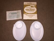 Melmac 4-Piece Dinnerware Hostess Set (2 Snack Plates w/Cup Wall and 2 Cups)
