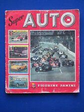 1977 Panini Album ' Super Auto  '   c/w  156/200  stickers STUCK IN
