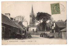 CPA 29 - PLOUGASNOU (Finistère) - 1. L'Eglise. Côté Est - LL (petite animation,