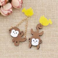 Arcylic Monkey Banana Dangle Drop Earrings Ear Stud Fashion Women Jewelry Gifts
