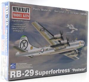 """Minicraft B-29 Superfortress """"Postwar"""" 1/144 Plastic Model Plane Kit 14749"""