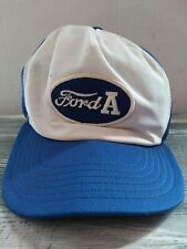 Vintage 1970's-80's Ford A Mesh Snap Back Patch Baseball Hat Cap Made In USA