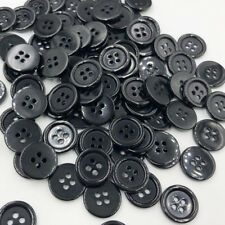 100pc 18mm Sewing Button DIY Crafts Plastic Button Black Color PT244