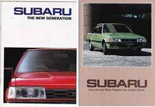 Two 1985 & 86 SUBARU LEONE SEDAN 4WD WAGON 4WD TOURING WAGON Australian Market