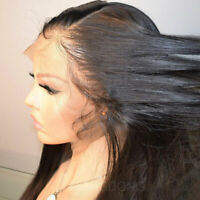 Smooth & Health Silky Straight Indian Remy Human Hair Wig 360 Full Front Lace sf