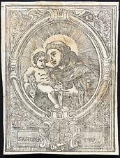 Guasp grabado St Antonio Espagne Espagna Mallorca XVIII Saint Antoine