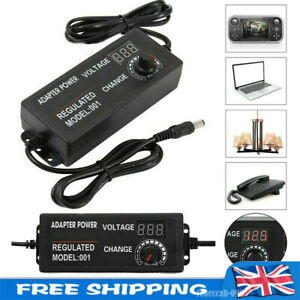 AC/DC 3-12V/9-24V Electrical Power Supply Adapter Charger Variable Voltage UK