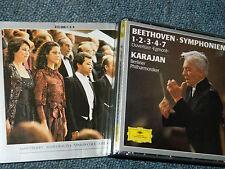 3 CD 1985 BEETHOVEN herbert von karajan BERLINER egmont SYMPHONIEN 1-2-3-4-7