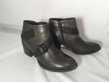 Crown Vintage Willy Ankle Boot Faux Buckle Sz 8M