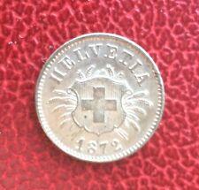 Suisse - Magnifique et rare 5 Rappen 1872 - rare en cette qualité