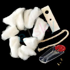 Petrol Lighter Replacement Pack - 6 Flint Stone, 1 Wick, Cotton Wadding And Felt