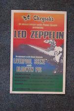 Led Zepplin tour poster 1969 European Liverpool
