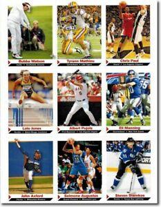 "2012 BUBBA WATSON SPORTS ILLUSTRATED 9 CARD LOT ""UNCUT SHEET"" W/ ELI MANNING"