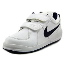 Nike Pico 4 Leather Kids Trainers UK 2 / EU 34 White Navy