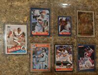 (7) Ozzie Guillen 1985 1986 Fleer Topps Donruss Rookie Card Lot RC Wite Sox ROY