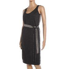 Tunic Striped Regular Size Sleeveless Dresses for Women