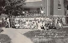 RPPC District Epworth League Convention ALMENA KS 1931 Photo Kansas Postcard