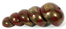 ANTIQUE CHINESE BRASS FIVE-TIER CASCADING TEMPLE BELLS