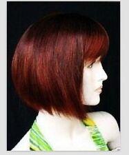 Mélange fascinant de noir courte rouge perruquewig+hairnet
