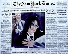 Michael Jackson Newspaper New York Times Cleared 2005 MJ Thriller King Of Pop