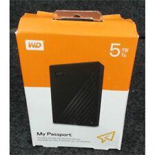 WD WDBPKJ0050BBK-WESN My Passport External Hard Drive 5TB USB 3.2 Gen 1 Black