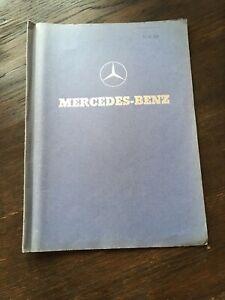 Prospekt Auto / Oldtimer Mercedes-Benz Angebotsmappe Lueg Kombi + 170 S-D + 190