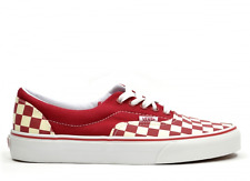 VANS AUTHENTIC CHECK TRAINER SHOES LOW TOPS IN RED WHITE CHECK CLASSIC NEW