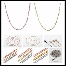 Fashion Mother Day Silver/Gold Tone Chain Multi-Style DIY Necklace Pendant Charm
