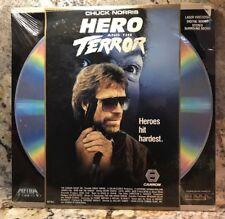 Hero and the Terror Laserdisc Brand New Ultra Rare Chuck Norris Rarer Error UPC