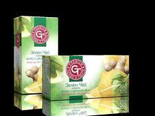 Gt 100% naturel thé vert-citron, ginkgo & ginger elixir de la nature 20 sachets de thé