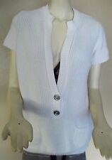 Burberry 100% Cotton Ladies White V Neck Pull Over Sweater size 48