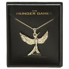 *NEW* The Hunger Games: Mockingjay 14K Gold Plated Boxed Necklace by Bioworld