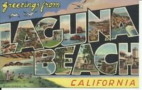Greetings From Laguna Beach California Large Letter Postcard