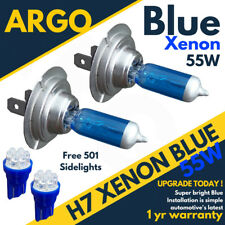 H7 55w Ice cool blue Xenon 477 12v Dipped Headlight Bulbs 501 7 Led Sidelights
